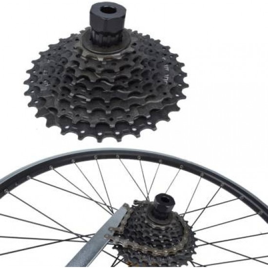 Cycle Sleeve Cassette Flywheel Locking Nut Bolt Remover Repair Tool Kit Cycling Bicycle Freewheel Removal Tool