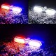 Bike Bicycle LED Red Blue White Police USB Rechargeable Waterproof Rear Break Tail Light