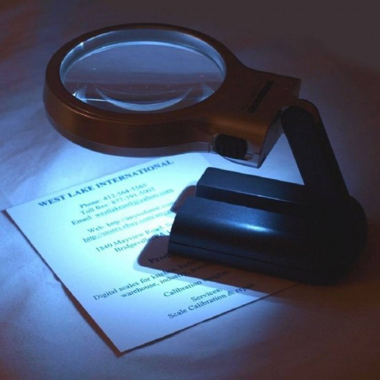 Magnifier Folding Lighted High Powered Glass 3X zoom LED Lights