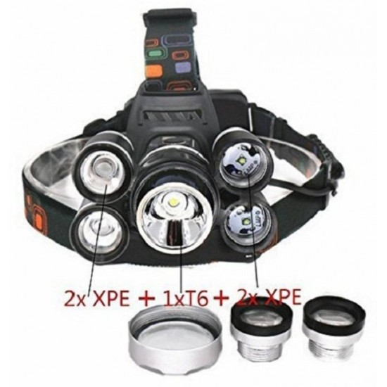 BIG 5 LED Rechargable Weather Water Proof Head Lamp Flash Light LED Headlamp