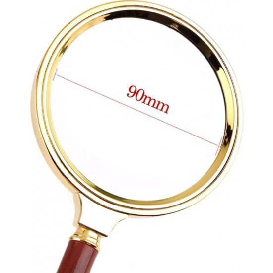 90 mm Magnifying Lens Glass 10x Magnifier Jewelry Coin Maps Stamp Collectors