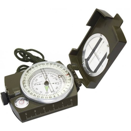 Military Lensatic Prismatic Army Green Camouflage Matte Compass