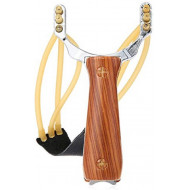 Wooden 3 Latex Bands Sling Shot Catapult Gullel