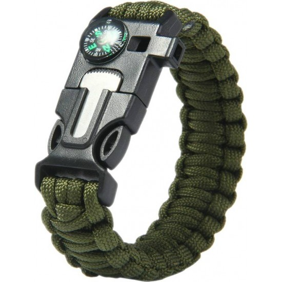 Multi Function Army Survival Military Hand Bracelet With Compass
