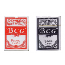 2 Packs Of N.O 92 Club Special BCG Poker Playing Cards (Black & Red) Diwali Special