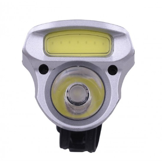 Bike Bicycle USB Rechargeable 3 Mode LED COB 2 in 1 Head Front LED Light