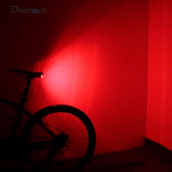 Bike Bicycle USB Rechargeable Wireless Remote Control Anti-Theft Alarm Bell LED Rear Break Light