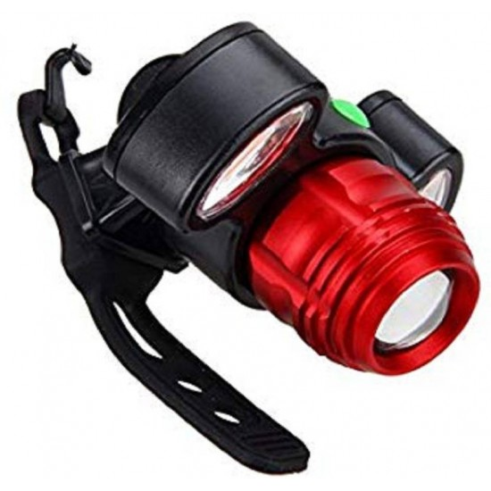 USB Rechargeable Red COB Bicycle Bike Headlight LED Front Light