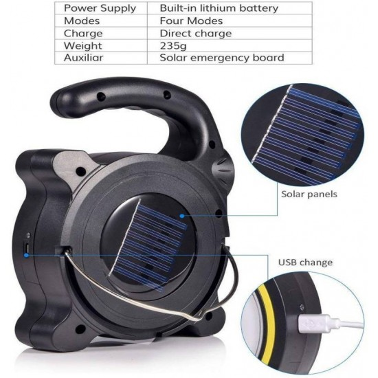 Multi Functional COB LED Work Light Outdoor Camping Portable Emergency Lantern Solar Light