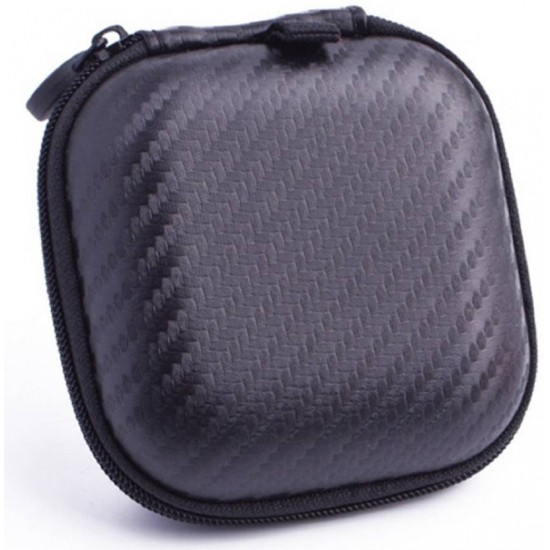 Square Earphone Pouch Zipper Pocket Bluetooth Headset Cover Case Earphone Cable Organizer