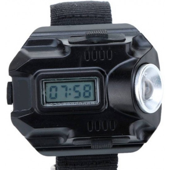 Wrist Watch LED Flashlight Torch Light for Night Walk Fishing Camping Hiking