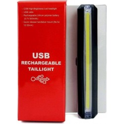 Bike Bicycle 6 modes Water resistant USB Rechargeable LED Rear Break COB Tail Light