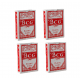 4 Packs Of BCG No.92 Club Special Poker Playing Red Cards