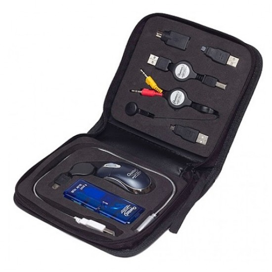 Quantum USB Travel Kit 8 in 1 with Memory Card Reader