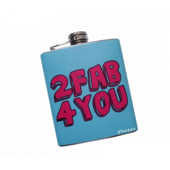 Protos Designer Colourful Screw Cap Stainless Steel Coloured Flex Hip Flask - PRT 010
