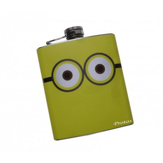Protos Designer Colourful Screw Cap Stainless Steel Coloured Flex Hip Flask_PRT004