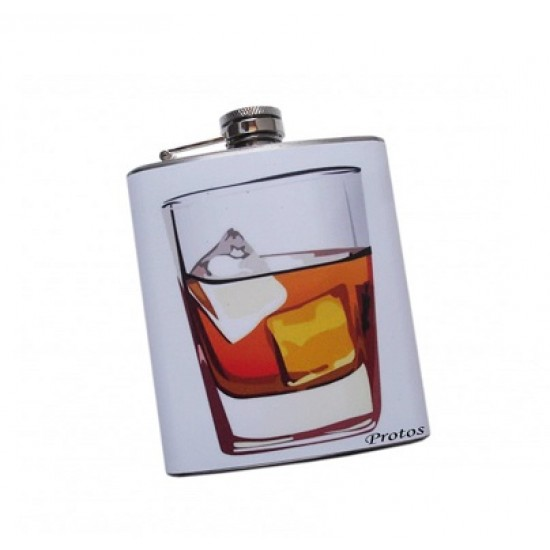 Protos Designer Colourful Screw Cap Stainless Steel Coloured Flex Hip Flask_PRT016
