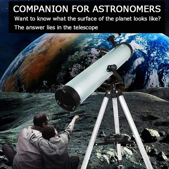 PROTOS INDIA.NET 525X Telescope for Stars Moon and Galaxy Long Distance 76700 Reflector Astronomical Telescope